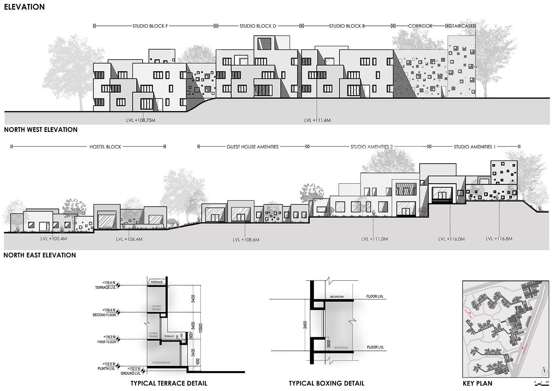 Elevation Sanjay Puri Architects}