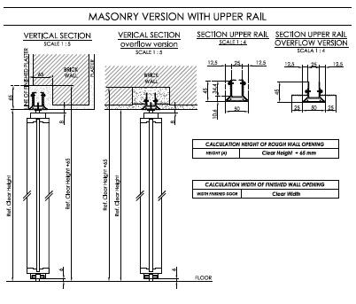 Masonry Version with Upper Rail Linvisibile}