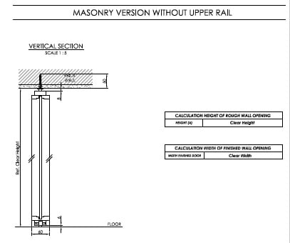 Masonry Version without Upper Rail Linvisibile}