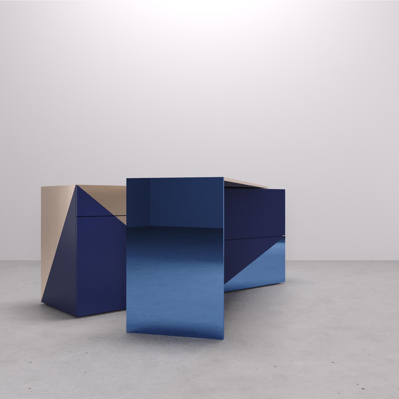 Tavolo rotante su perno. Arch. Anna Polisano, Designer Enrico Pontillo, Arch. Marco Esposito