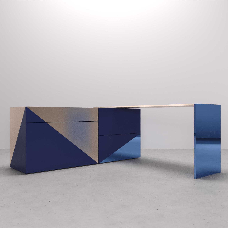 Possibile posizione tavolo rotante su perno. Arch. Anna Polisano, Designer Enrico Pontillo, Arch. Marco Esposito