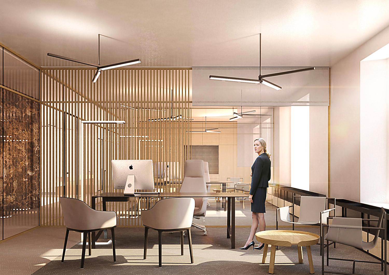 installazione di Trittico nel progetto del progetto della nuova sede della banca ERSEL a Milano Atelier(s) Alfonso Femia}