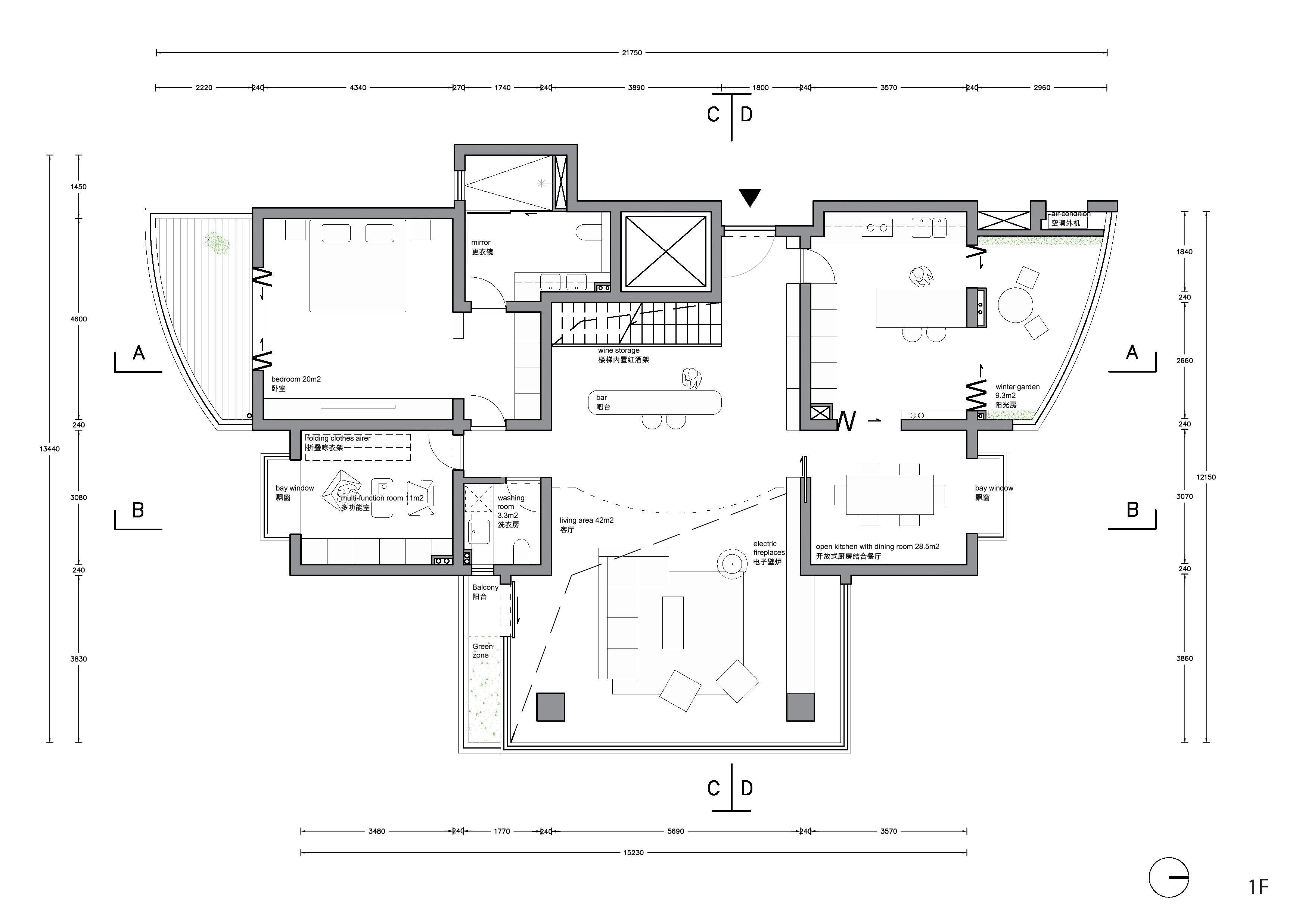 Plan 1F Office ZHU}
