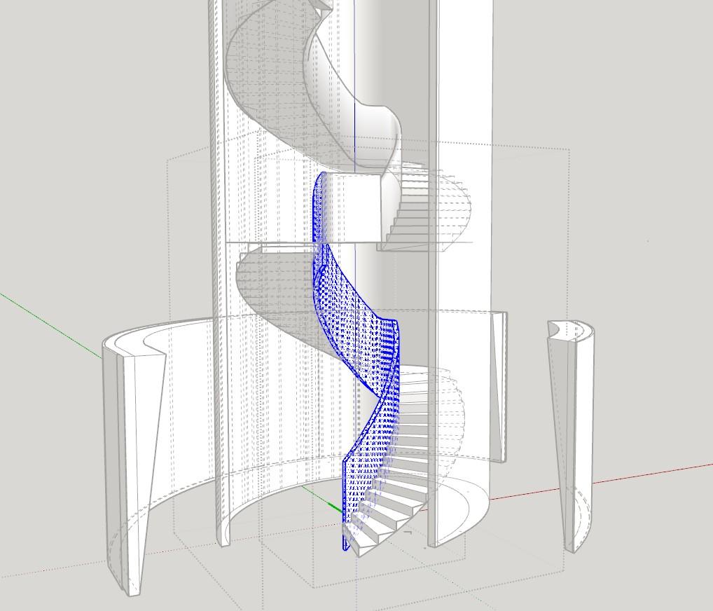 spiral staircase DOME&ASSOCIATES}