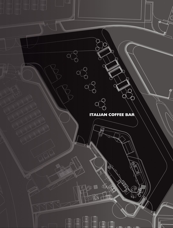 Planimetria di progetto ITALIAN COFFEE BAR DA}