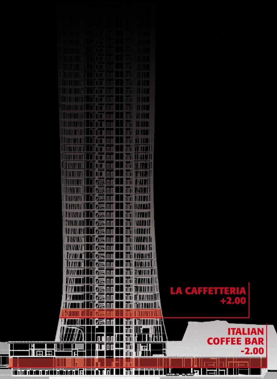 Schema sezione torre / piani intervento DA}