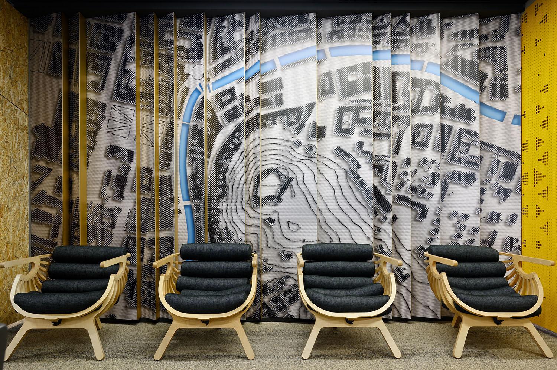 Wall design at entrance hall Miran Kambič