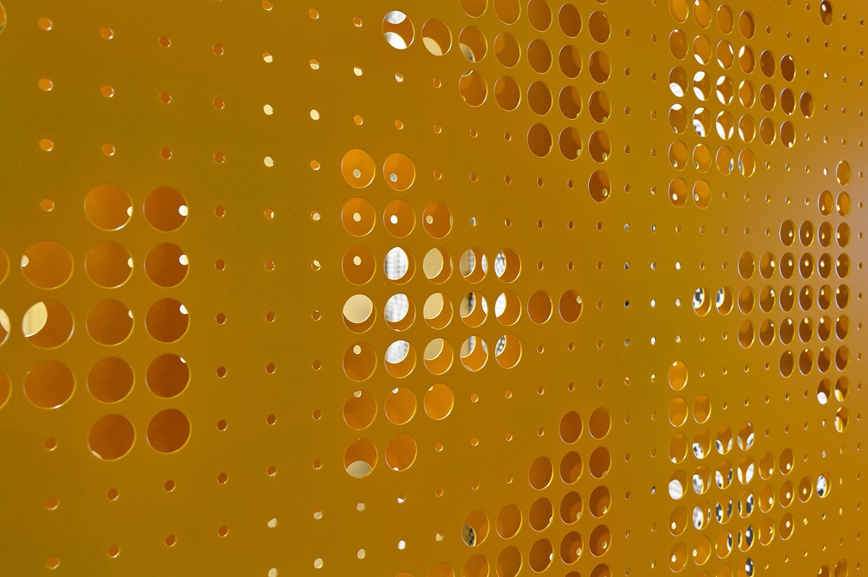 Pattern wall - yellow Miran Kambič}