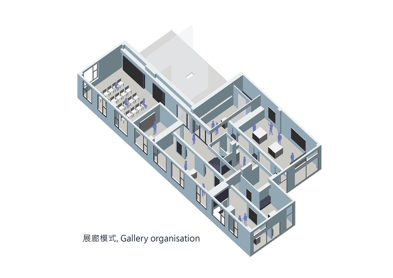 Axonometric diagram of gallery Shanghai ORIA Planning & Design Co., Ltd.}