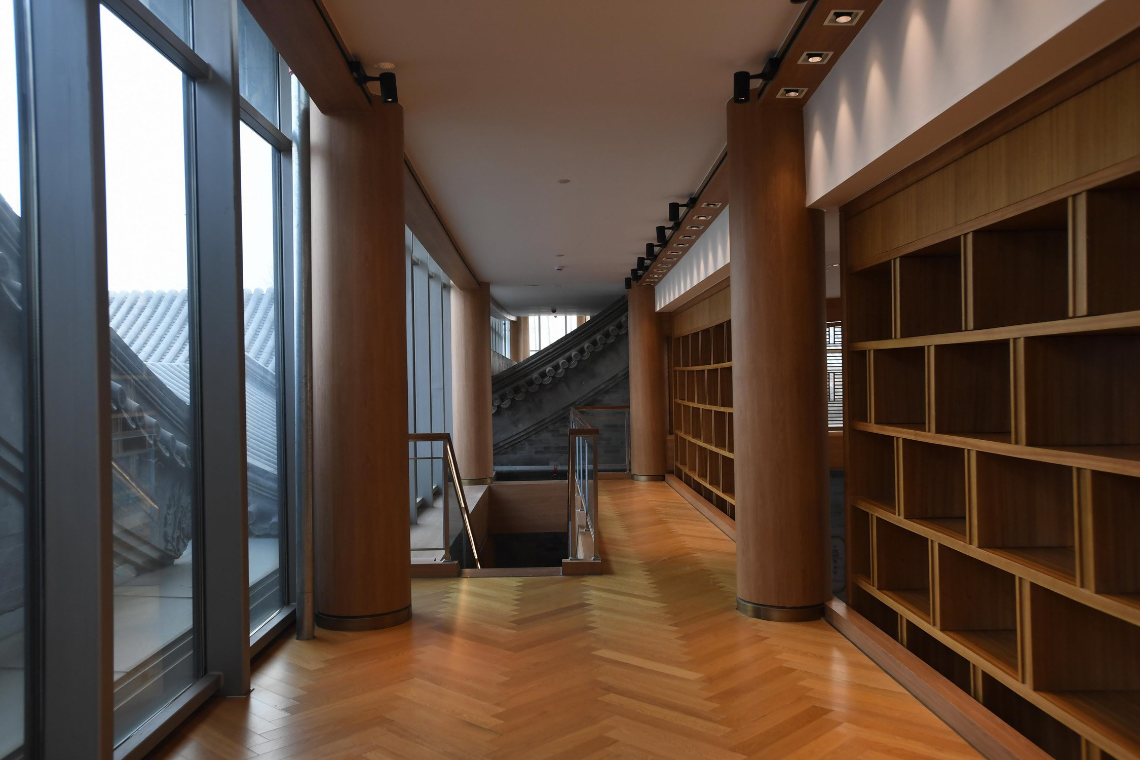 the upstair of the library