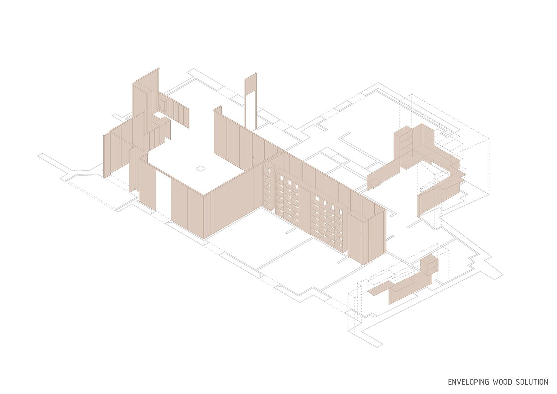 Enveloping wood solution Contextos de Arquitectura y Urbanismo}