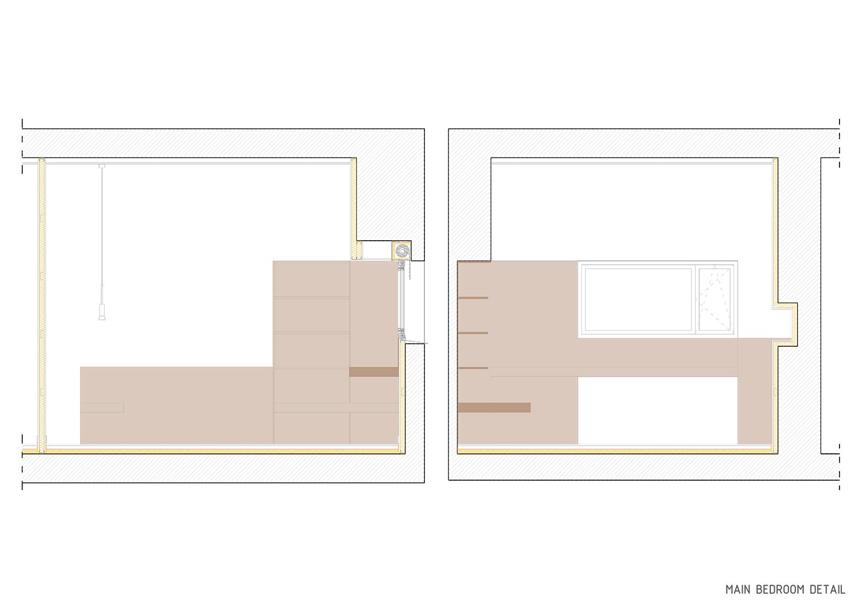 Main bedroom detail Contextos de Arquitectura y Urbanismo}