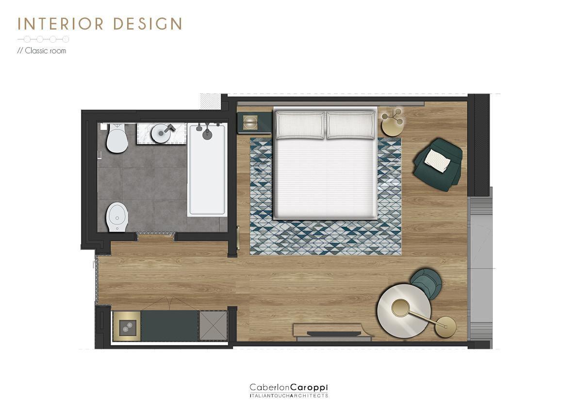 Sheraton Milan San Siro - Room CaberlonCaroppi Architetti associati}