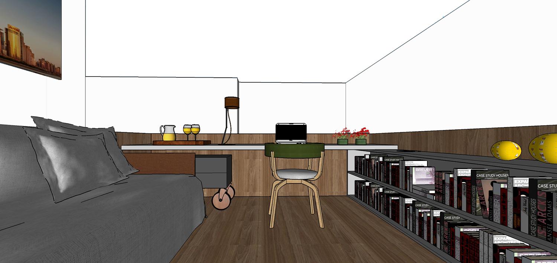 Office located at the mezzanine FCstudio}