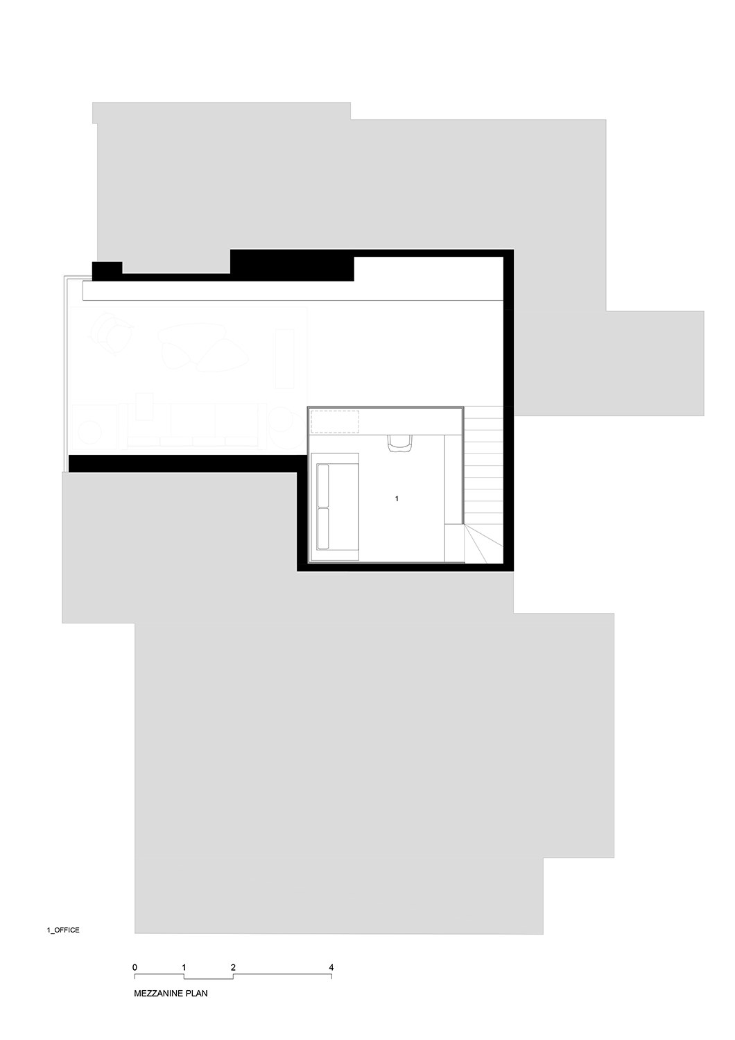 Mezzanine floor plan FCstudio}