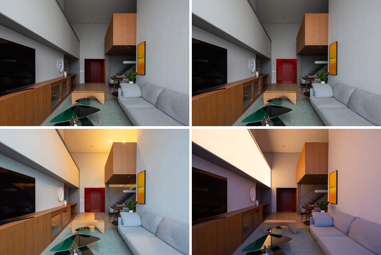 Different lightings in the living room Pedro Kok