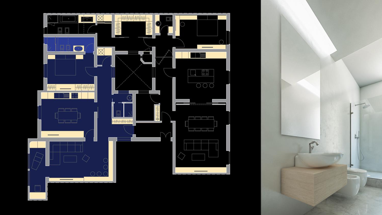 House C - pianta e particolare d'interno Giuseppe Todaro Architect