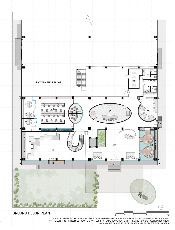 Ground Floor Plan SANJAY PURI ARCHITECTS}
