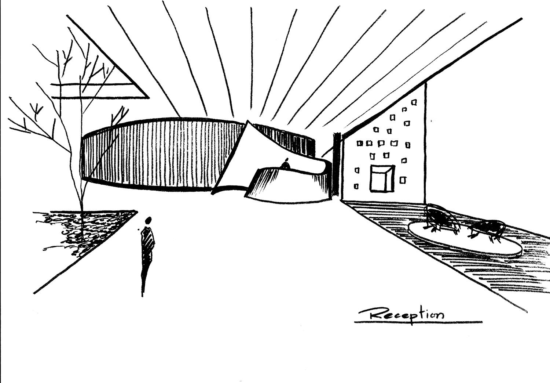 Conceptual Sketch Sanjay Puri Architects}