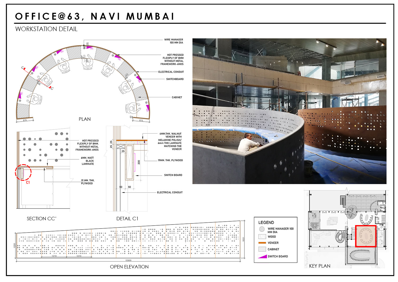 Detail -Work station SANJAY PURI ARCHITECTS}