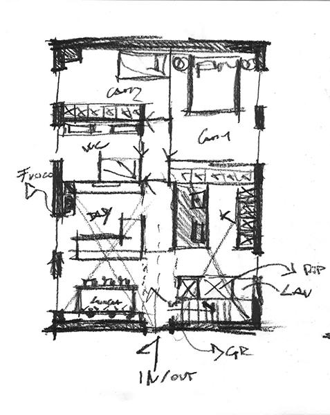 schizzo project concept P1 enrico muscioni architect}