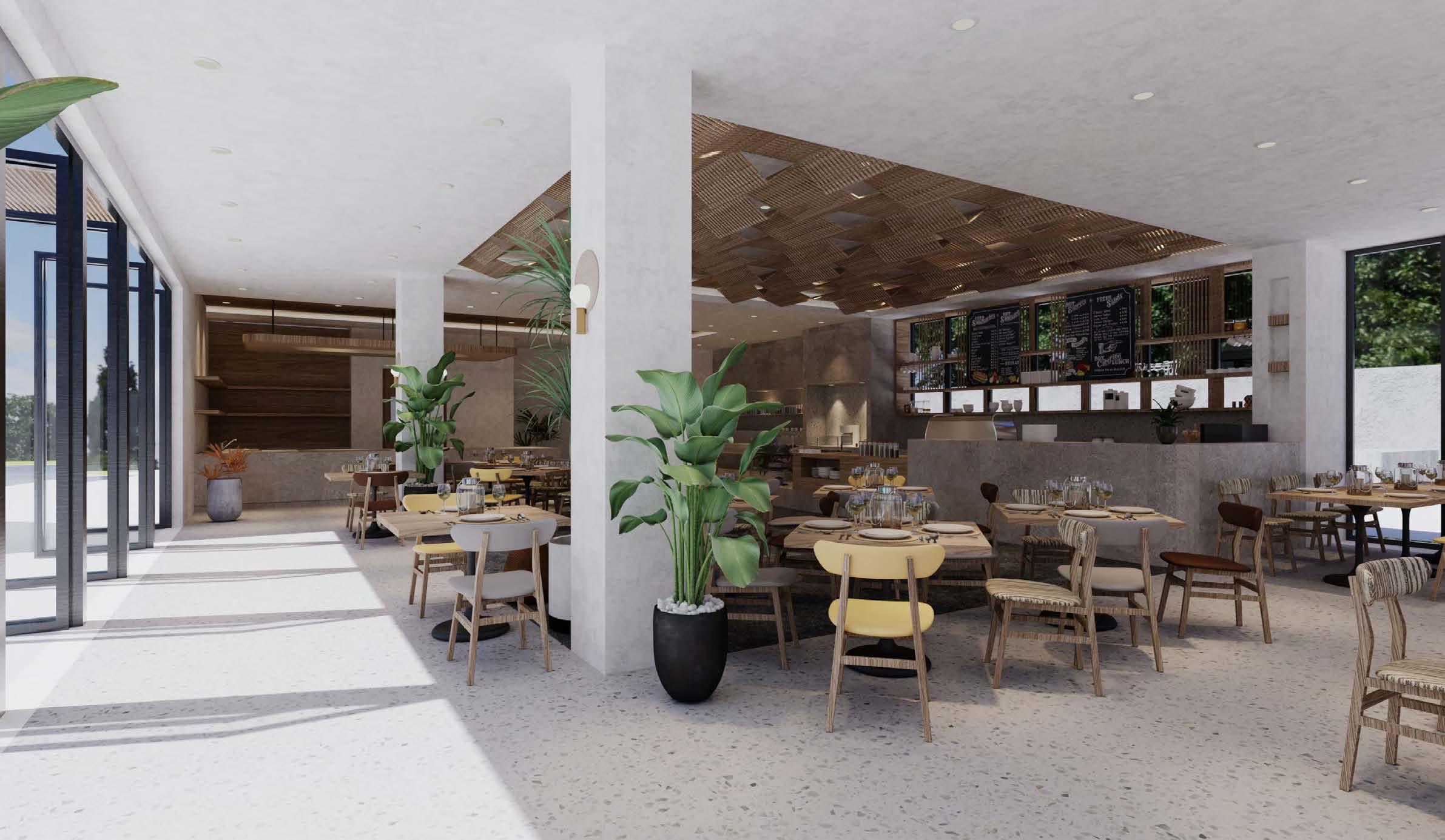 Restaurant rendering Yangyang He}