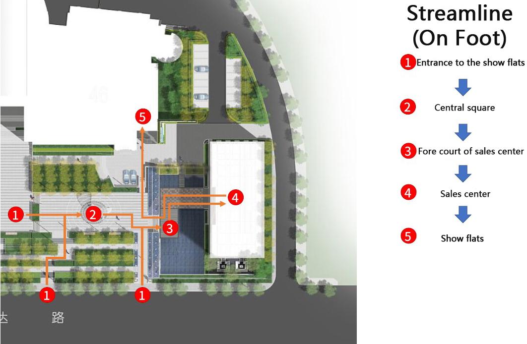Streamline for pedestrian Wei Sun}