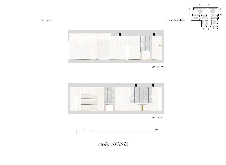 Sections - Limestone Walls atelier Avanzi}