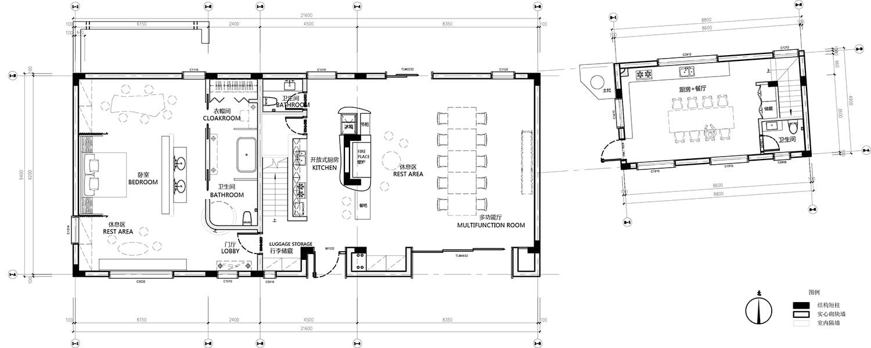 plan of the first floor Zhou He}