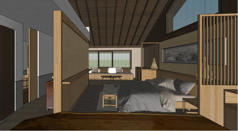 Room renderings Zhou He}