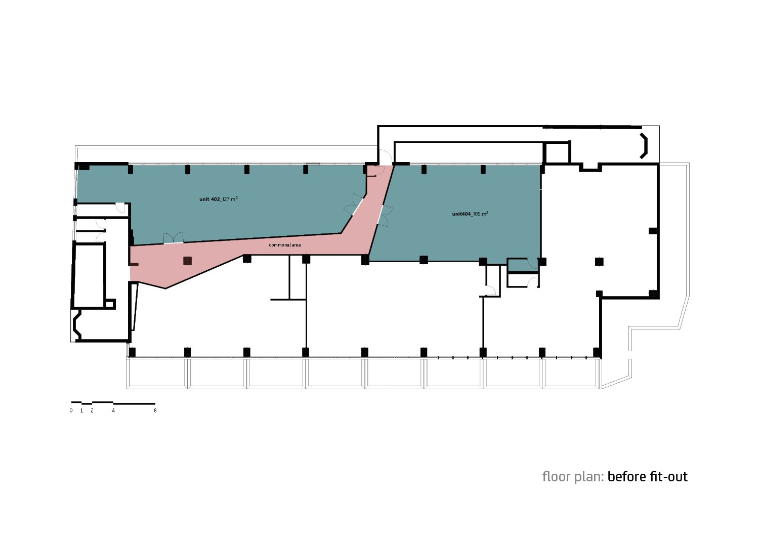 Floor plan before fit-out Forte Architetti}