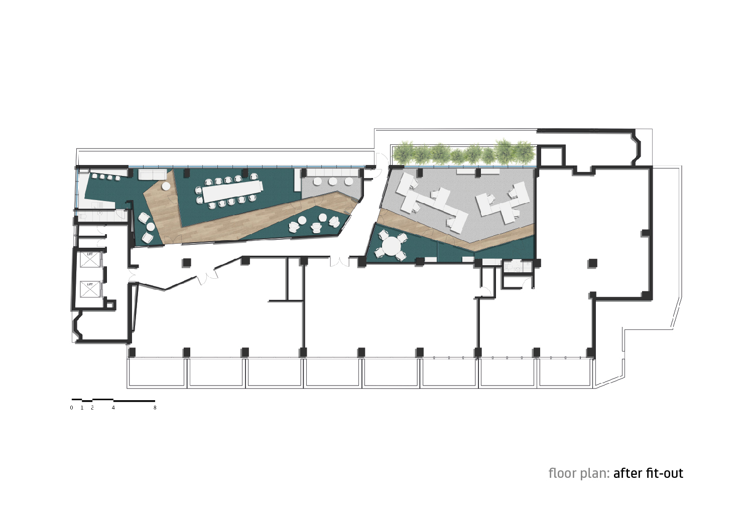 Floor plan after fit-out Forte Architetti}