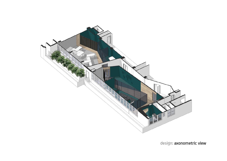 Axonometric view Forte Architetti}