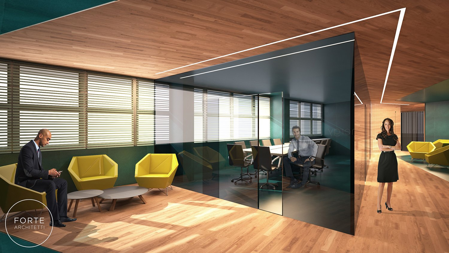 Rendered view Forte Architetti}