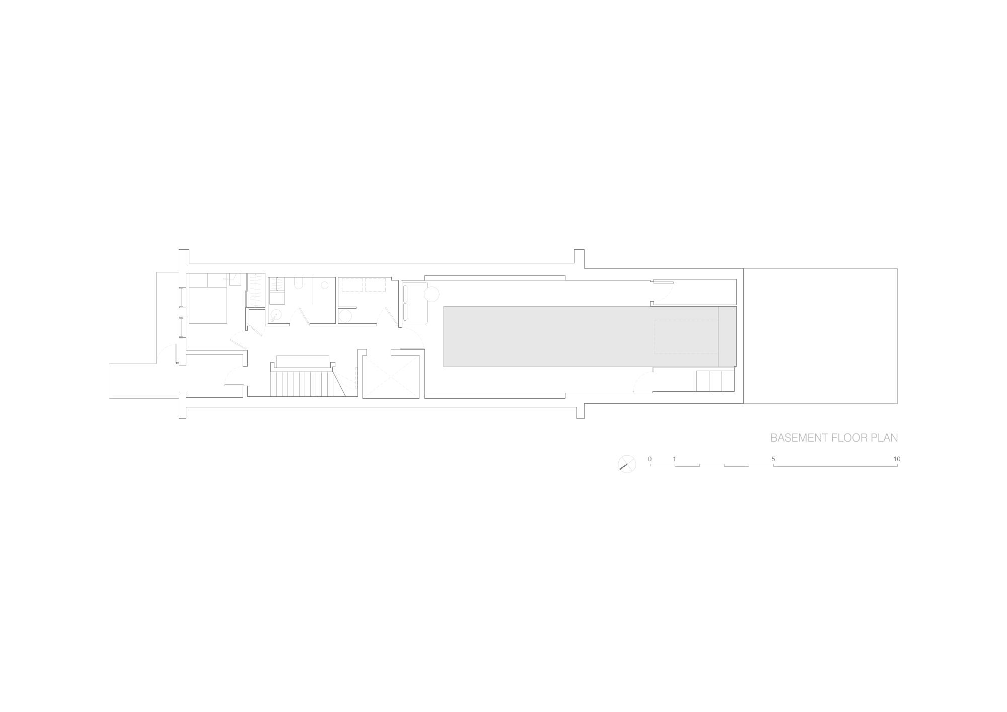 Brownstone Residence - Basement Floor Plan STUDIO ARTHUR CASAS}