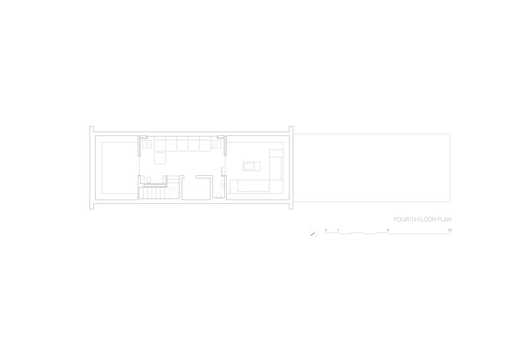 Brownstone Residence - Fourth Floor Plan STUDIO ARTHUR CASAS}