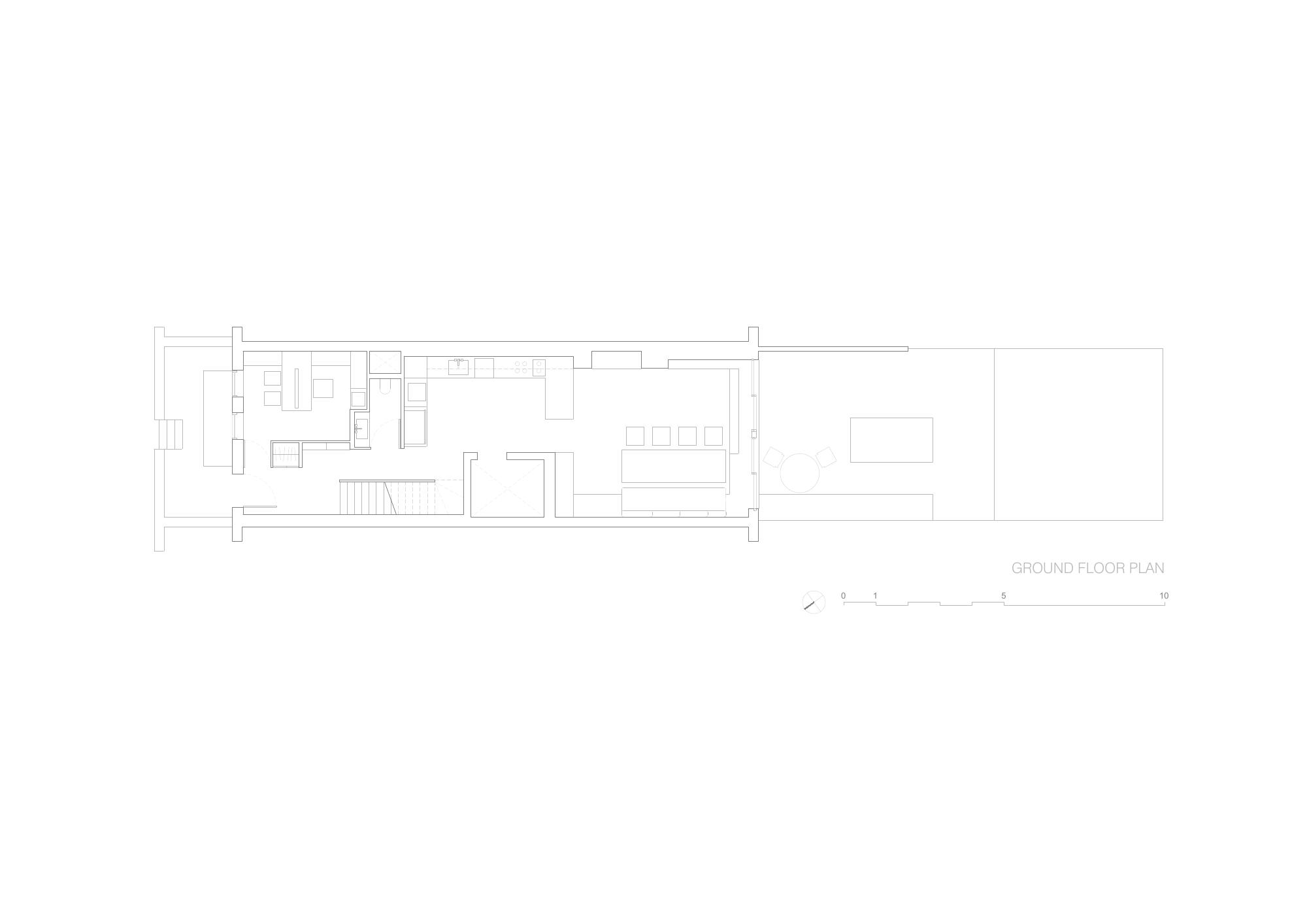 Brownstone Residence - Ground Floor Plan STUDIO ARTHUR CASAS}