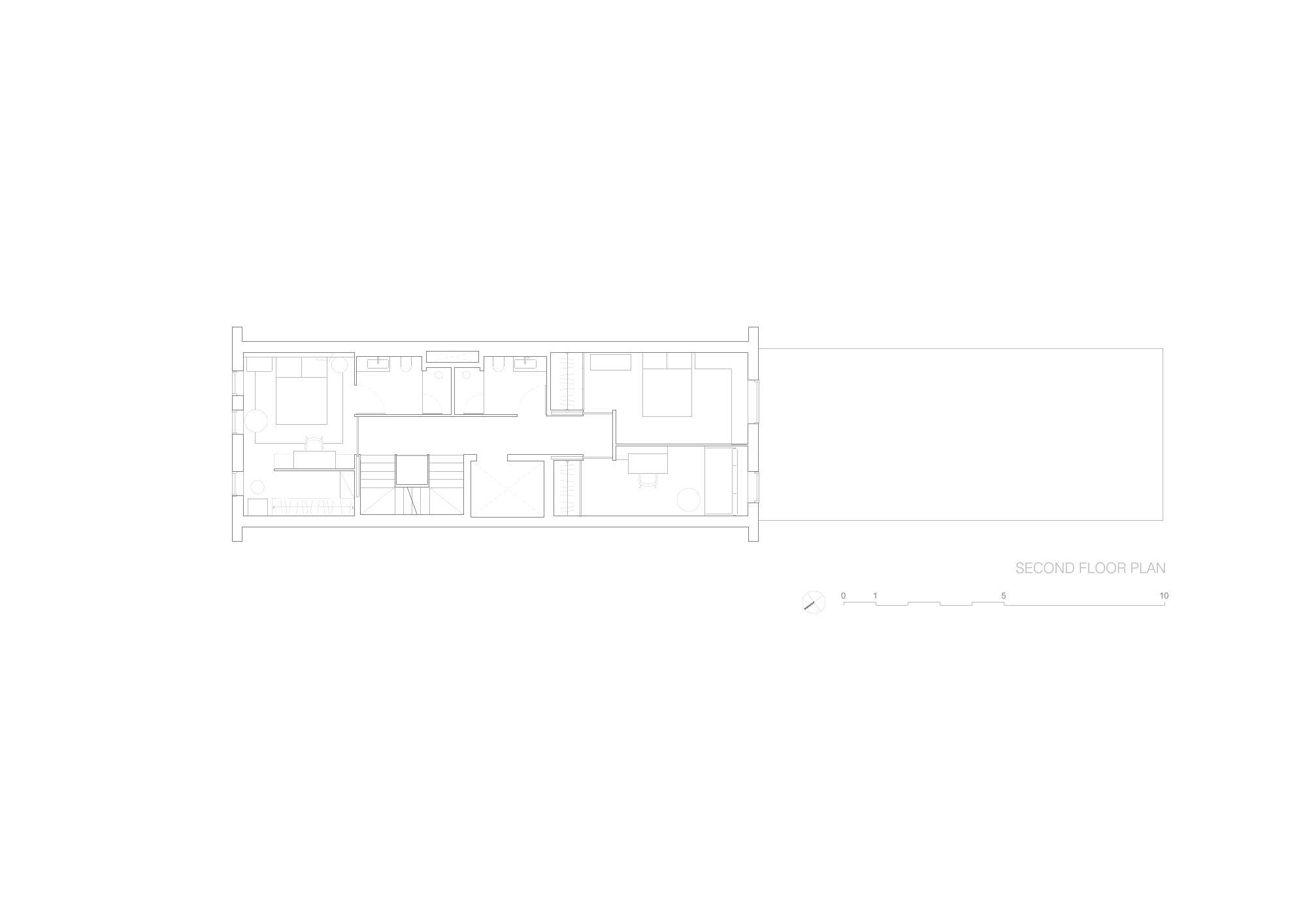 Brownstone Residence - Second Floor Plan STUDIO ARTHUR CASAS}