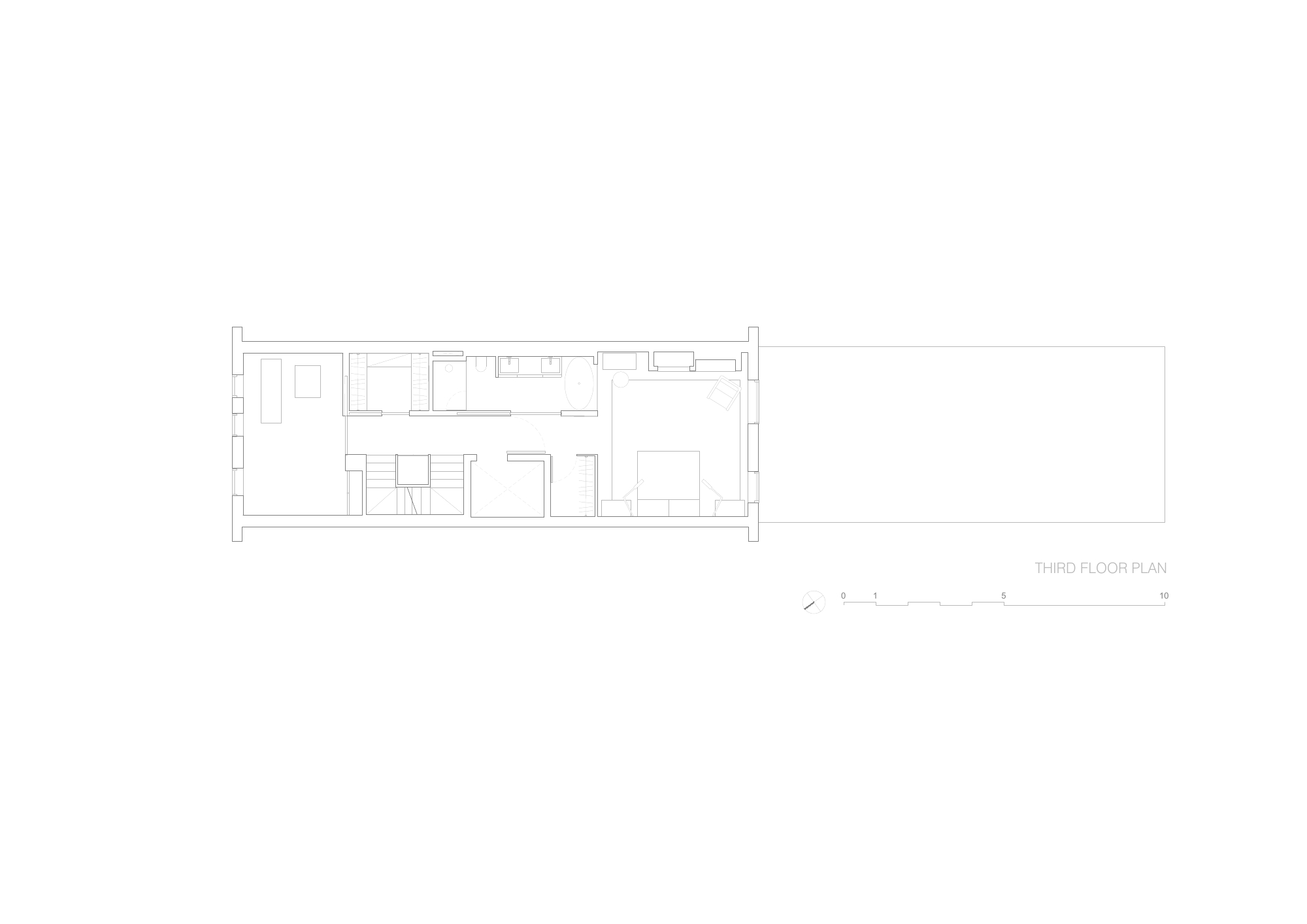 Brownstone Residence - Third Floor Plan STUDIO ARTHUR CASAS}