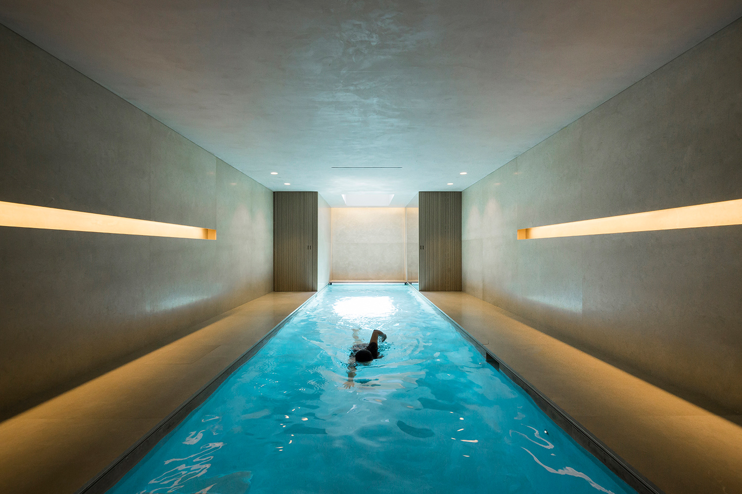The project's highlight is the Indoor Pool, placed in the underground floor.  Filippo Bamberghi