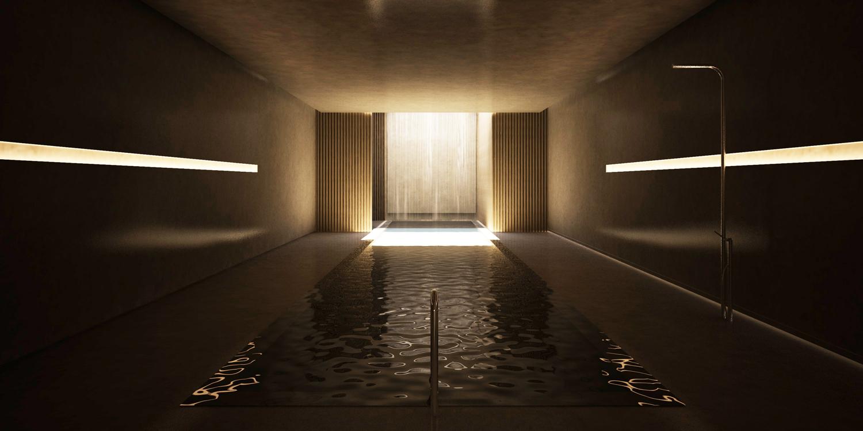 Brownstone Residence - Pool render STUDIO ARTHUR CASAS}