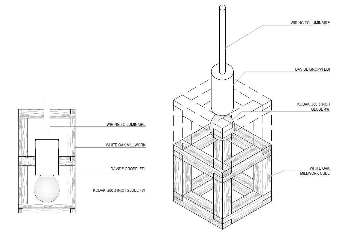 Kosushi Miami Restaurant - Millwork Cube detail STUDIO ARTHUR CASAS}