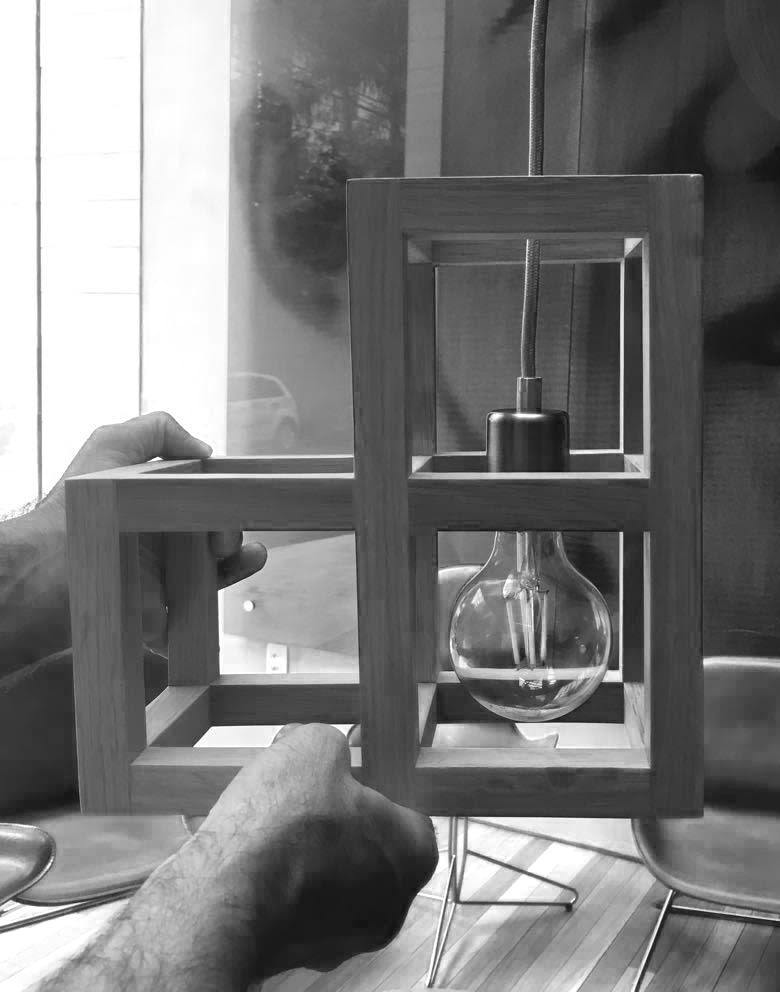 Kosushi Miami Restaurant - Millwork Cube prototype with luminaire STUDIO ARTHUR CASAS}