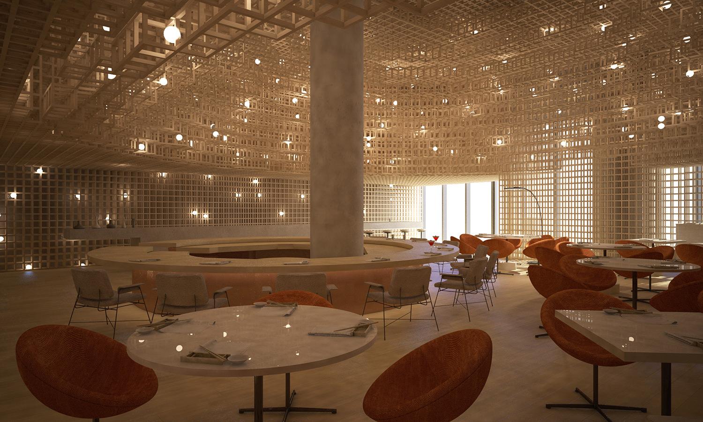 Kosushi Miami Restaurant - Render 1 STUDIO ARTHUR CASAS}