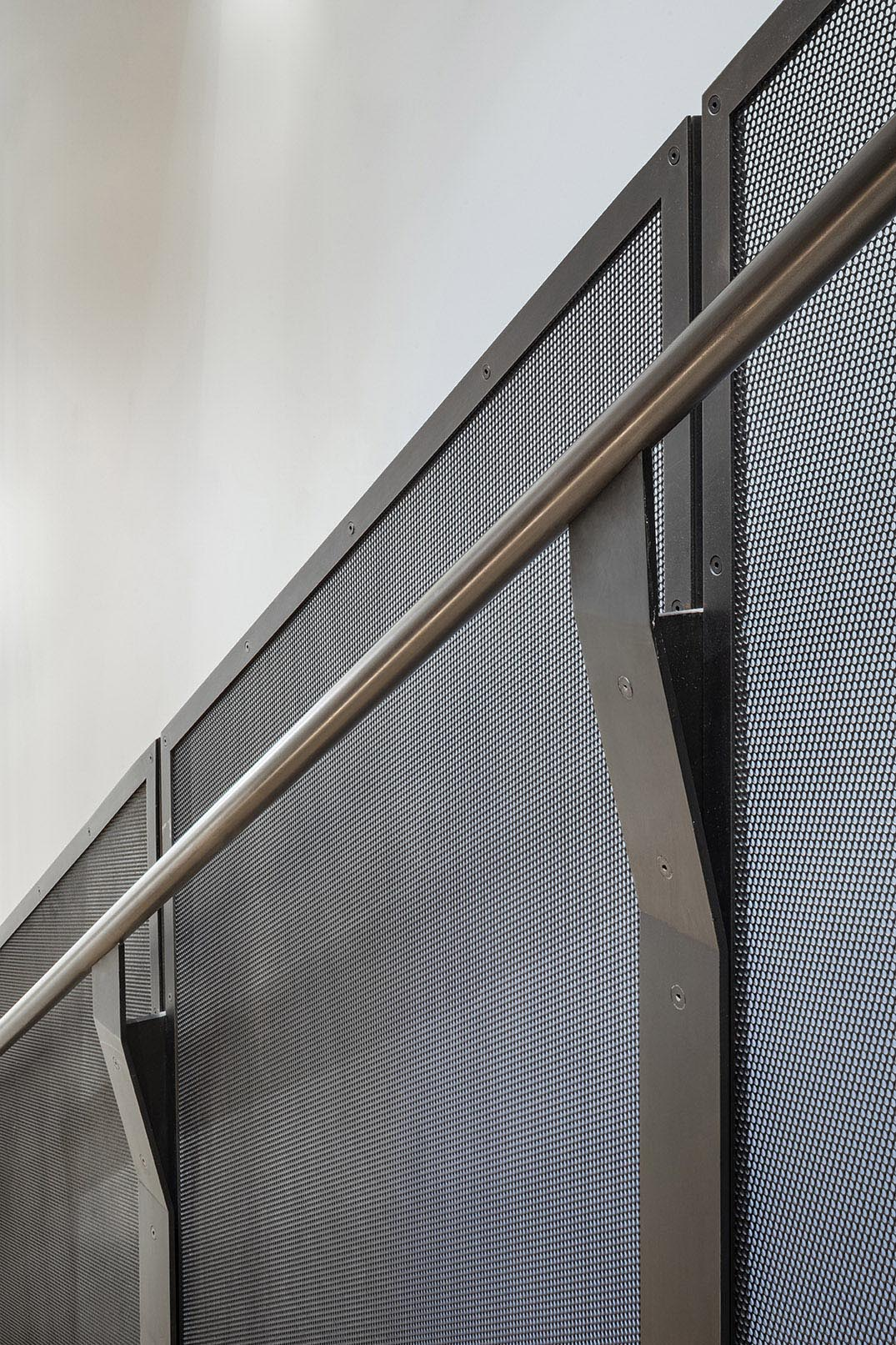 Blackened steel stair detail. Photography, Michael Moran / OTTO