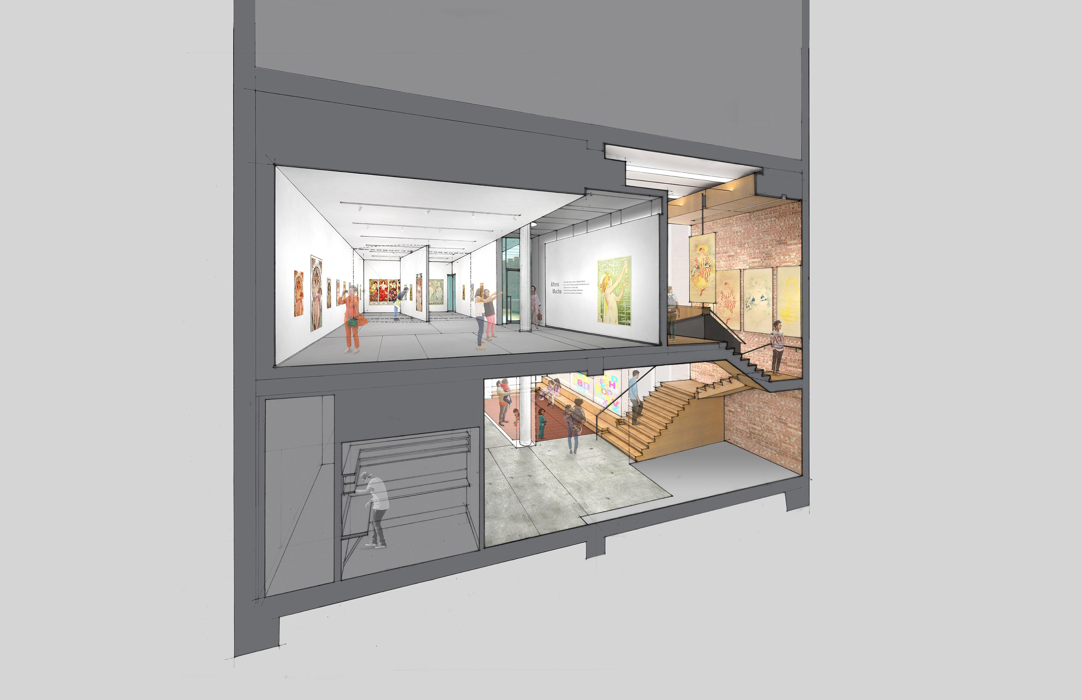 Gallery + Stair Section LTL Architects}