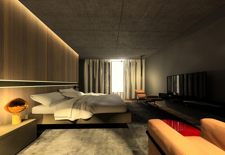 Render della master bedroom Carlo Berarducci Archiìtecture}