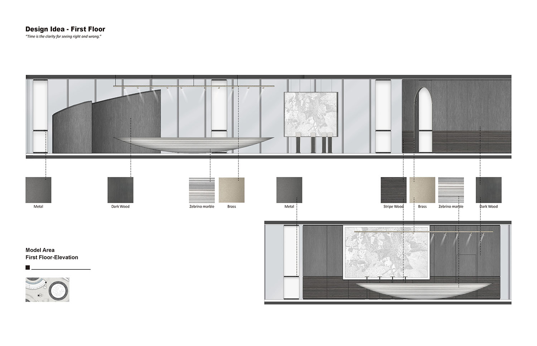 DESIGN IDEA FIRST FLOOR-MODEL AREA Harmony World Consultant & Design}