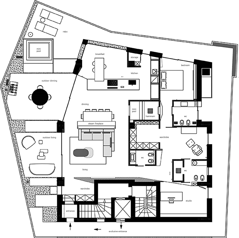 Planimetria Generale enrico muscioni architect}