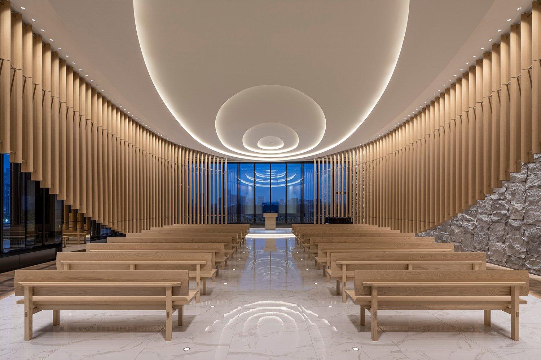 Chapel with evening view Kenji Masunaga